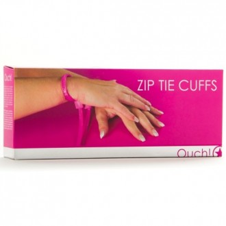 DISPOSABLE OUCH! ZIP TIE CUFFS PINK