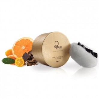 DARK CHOCOLATE EDIBLE BODY POWDER BIJOUX INDISCRETS CHOCOLATE AND CITRUS 45GR