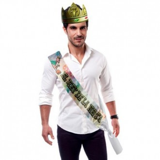 """PARTY BAND AND CROWN """"THE KING OF THE PARTY"""" IN SPANISH"""