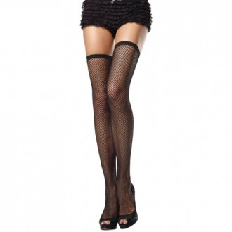 FISHNET THIGH HIGHS BLACK