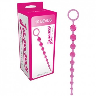 JAMMY JELLY 10 ANAL BEADS PINK