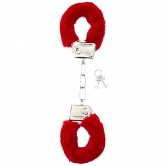 FURRY HANDCUFFS RED