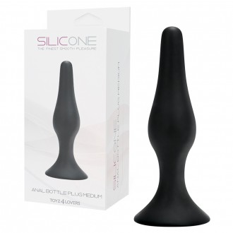 ANAL BOTTLE PLUG BLACK MEDIUM