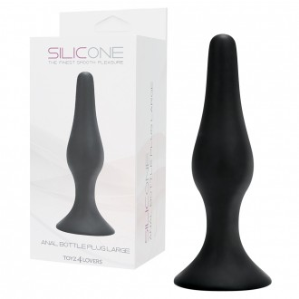 ANAL BOTTLE PLUG BLACK LARGE