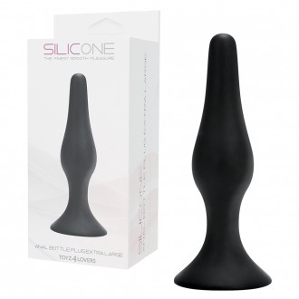 ANAL BOTTLE PLUG BLACK EXTRA LARGE
