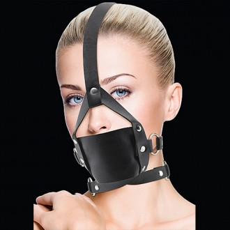 OUCH! LEATHER MOUTH GAG BLACK