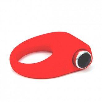 HARD-ON VIBRATING SILICONE COCKRING RED
