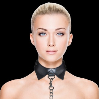 COLLAR CON CORREA OUCH! EXCLUSIVE COLLAR WITH LEASH NEGRA