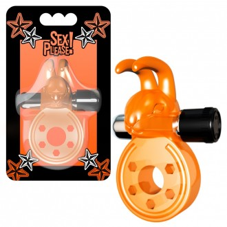 SEX PLEASE! BAXTER VIBRATING COCKRING ORANGE