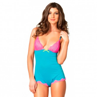LEG AVENUE SERAPHINA BODY BLUE AND PINK