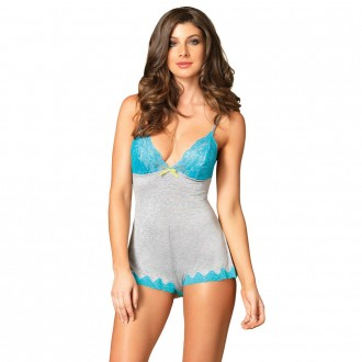 LEG AVENUE SERAPHINA BODY GREY AND BLUE