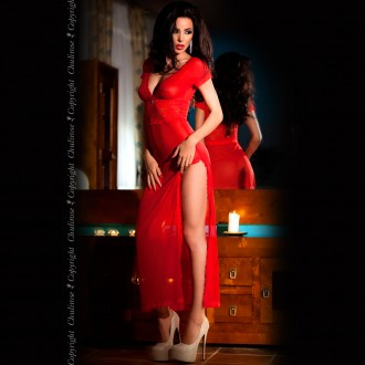 BABYDOLL AND THONG CR-3625 RED
