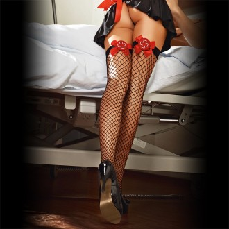 FISHNET THIGH HIGH STOCKINGS 1232 BACI BLACK