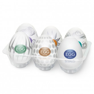 PACK WITH 6 TENGA EGG SURFER MASTURBATORS