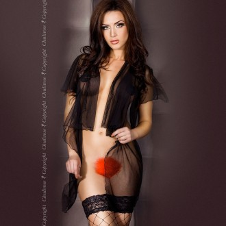 THONG WITH FEATHERS CR-3299 RED