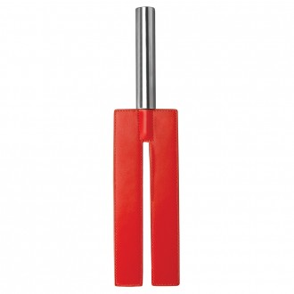 OUCH! LEATHER SLIT PADDLE RED