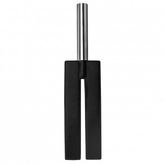 AZOTADOR OUCH! LEATHER SLIT PADDLE NEGRO