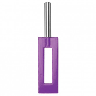 AZOTADOR OUCH! LEATHER GAP PADDLE MORADO