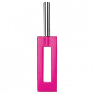 AZOTADOR OUCH! LEATHER GAP PADDLE ROSA