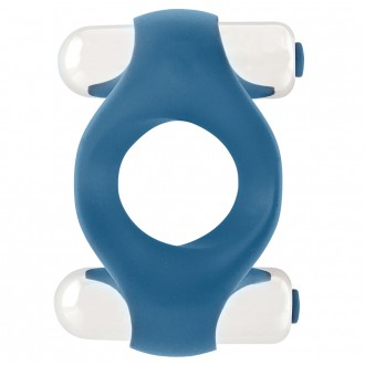INFINITY DOUBLE VIBRATING COCKRING BLUE