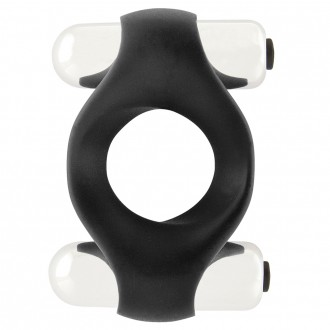 INFINITY DOUBLE VIBRATING COCKRING BLACK