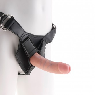 KING COCK STRAP-ON HARNESS WITH 6