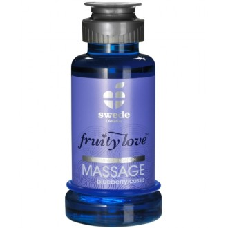 FRUITY LOVE MASSAGE OIL BLUEBERRY AND CASSIS 100ML