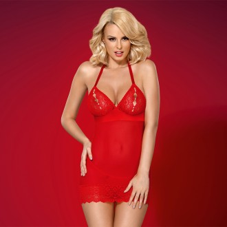 CHEMISE AND THONG OBSESSIVE 822-CHE