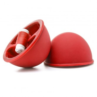 OUCH! VIBRATING SUCTION CUPS RED