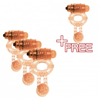 BUY 3 GET + 1 FREE SUPER TWIN VIBE VIBRATING RING SKIN