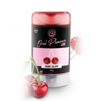 ORAL PLEASURE CHERRY LOLLIPOP KISSABLE LUBRICANT 34GR