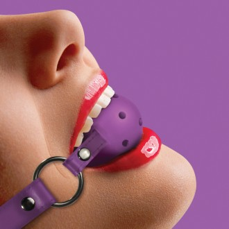 OUCH! BALL GAG PURPLE