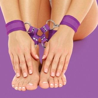 OUCH! VELCRO HAND AND LEG CUFFS PURPLE