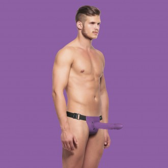 OUCH! HOLLOW TWISTED STRAP-ON PURPLE