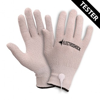 ELECTRO SHOCK GLOVES WITH REMOTE TESTER