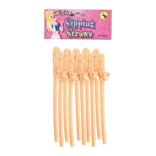 10 DICKY SIPPING STRAWS