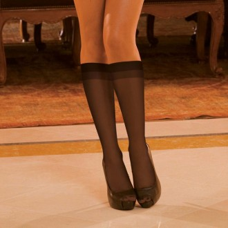 SHEER KNEE HIGHT BLACK