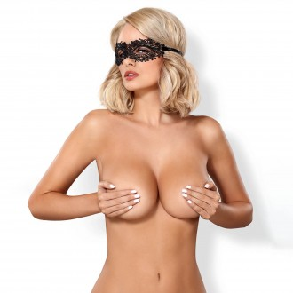 OBSESSIVE A710 LACE MASK BLACK