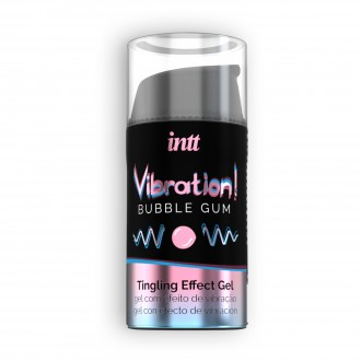 GEL CON VIBRACIÓN VIBRATION CHICLE INTT 15 ML