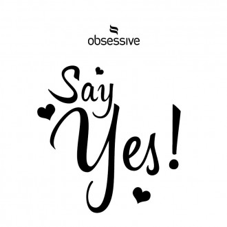 OBSESSIVE SAY YES STICKER