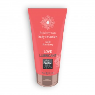 SHIATSU EDIBLE STRAWBERRY FLAVOURED LOVE LUBRICANT 75ML