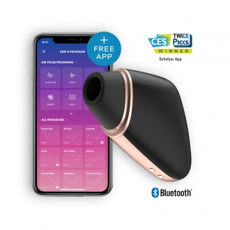 SATISFYER LOVE TRIANGLE WITH APP BLACK