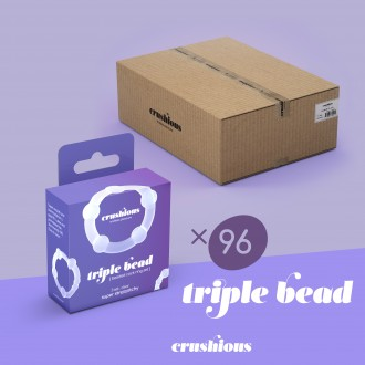 96 PACK TRIPLE BEAD COCKRING SET CLEAR CRUSHIOUS
