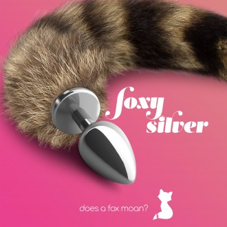 PLUG ANAL CON COLA FOXY SILVER METAL CRUSHIOUS