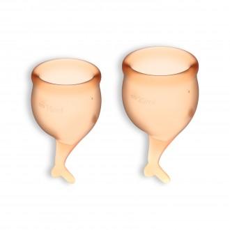 FEEL SECURE 2 MENSTRUAL CUPS SET SATISFYER ORANGE