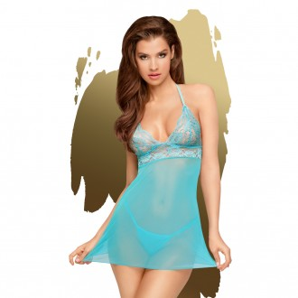 PENTHOUSE BEDTIME STORY BABYDOLL AND THONG BLUE