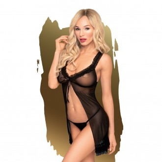 PENTHOUSE AFTER SUNSET BABYDOLL AND THONG BLACK