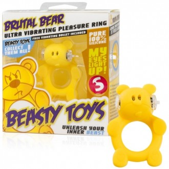 VIBRATING RING WITH LIGHT BEASTY TOYS BRUTAL BEAR
