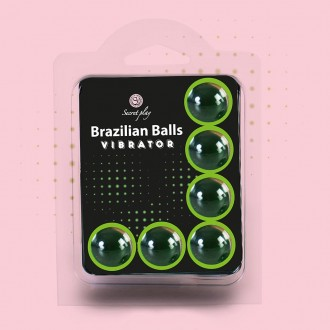 BRAZILIAN LUBRICANT BALLS SHOCK VIBRATING EFFECT 6 x 4GR