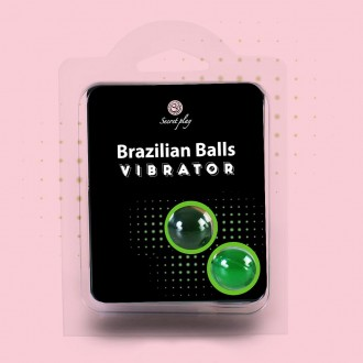 BRAZILIAN LUBRICANT BALLS SHOCK VIBRATING EFFECT 2 x 4GR